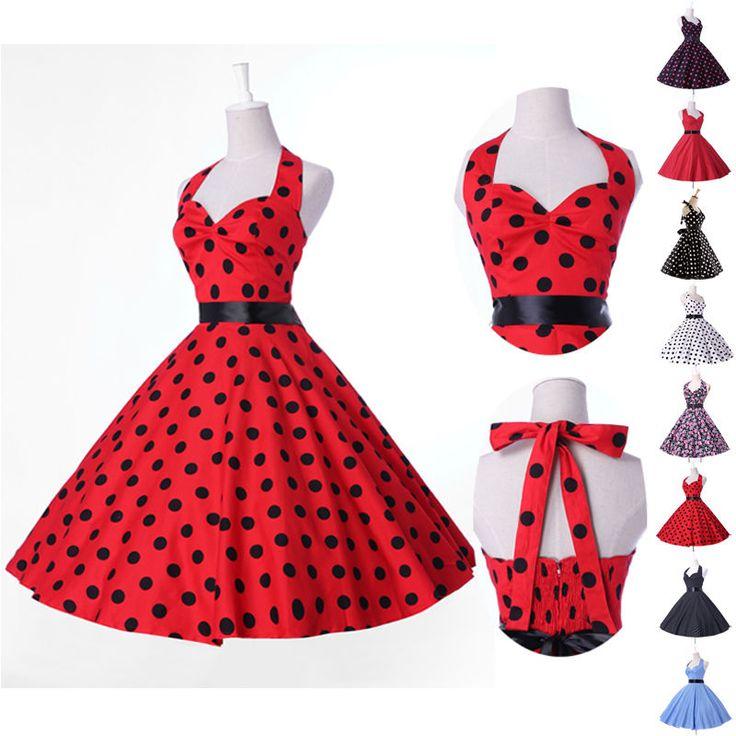 2016 Abito Donna Vintage Stile Anni 50 Festa da Ballo vestiti anni 50