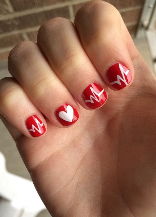My graduation nails! #nursing #EKG