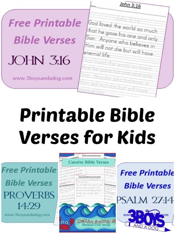 Printable Bible Verses for Kids