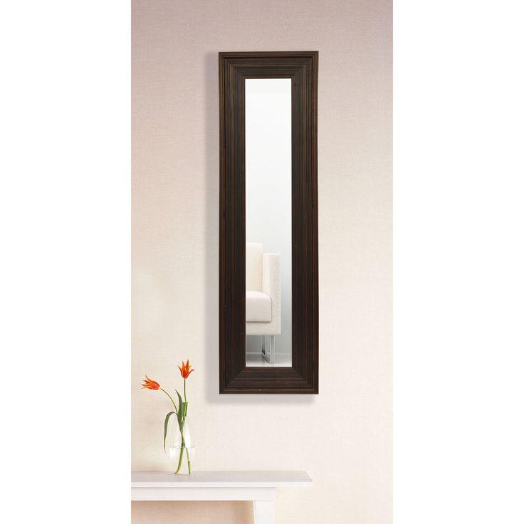 american made rayne barnwood brown mirror panel set of 3 x