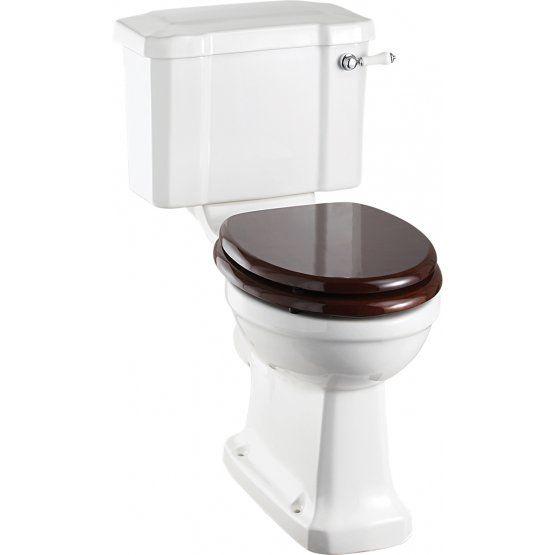 Burlington Close Coupled Pan & Slimline Cistern inc Ceramic Lever Chrome