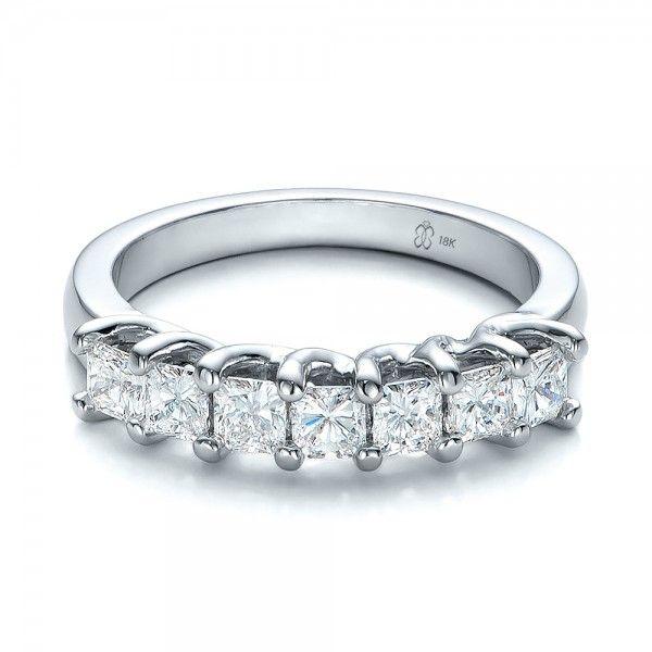 Simple Custom Radiant Diamond Wedding Band