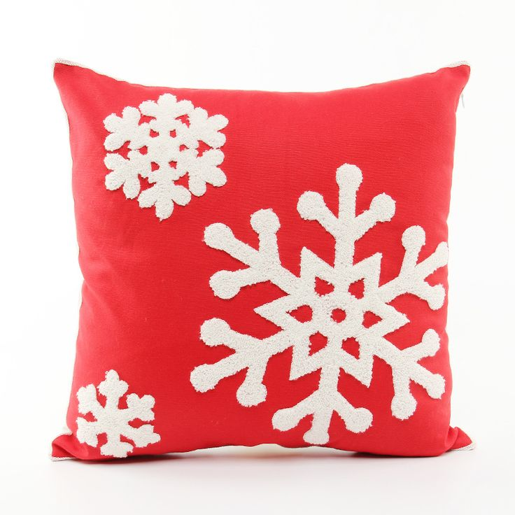 Snowflake Cushion Cover Cotton Pillowcase Embroidered Pillowcase For Home Or Car Decoration #Affiliate