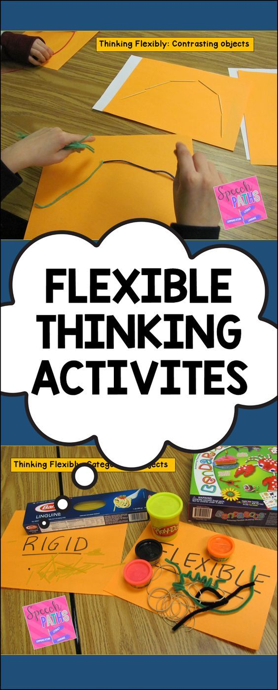 Hands on activities to introduce cognitive flexibility.  Love the visual aspect of this activity.  Your students will make some great connections.  Read more at:  http://speechpaths.blogspot.com/2016/01/thinking-flexibly-how-i-introduce.html