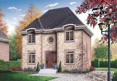 Narrow Lot European Home Plan - 21220DR thumb - 01