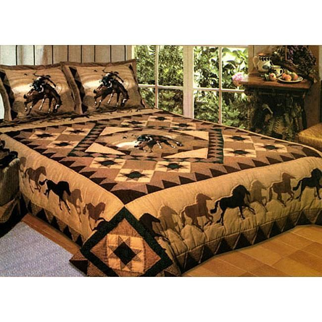 Western Horse Quilt - love this!
