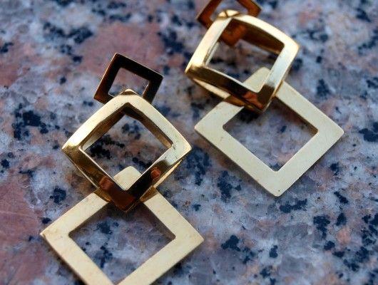 Brass earrings at our website www.lemetissage.it