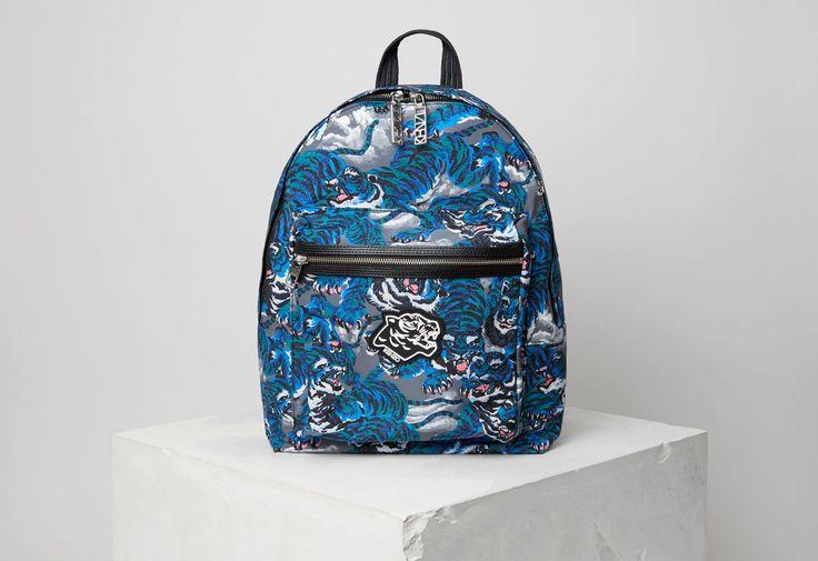 Flying tiger Backpack, PERRIWINKLE, KENZO