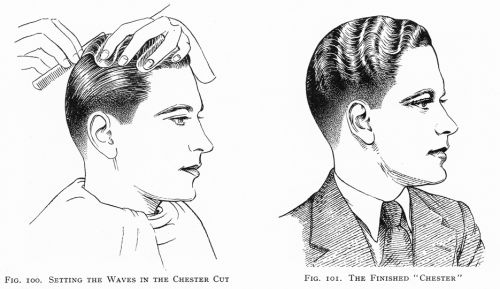 Vintage Hairstyles for Men The Chester was a 1920s do that was a finger wave style for the guys. From The Art and Craft of Hairdressing First published in 1931