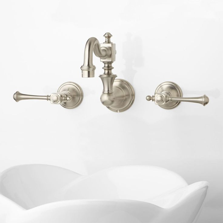 Best Bathroom Faucets Images On Pinterest Brass Faucet - Vintage wall mount bathroom sink for bathroom decor ideas