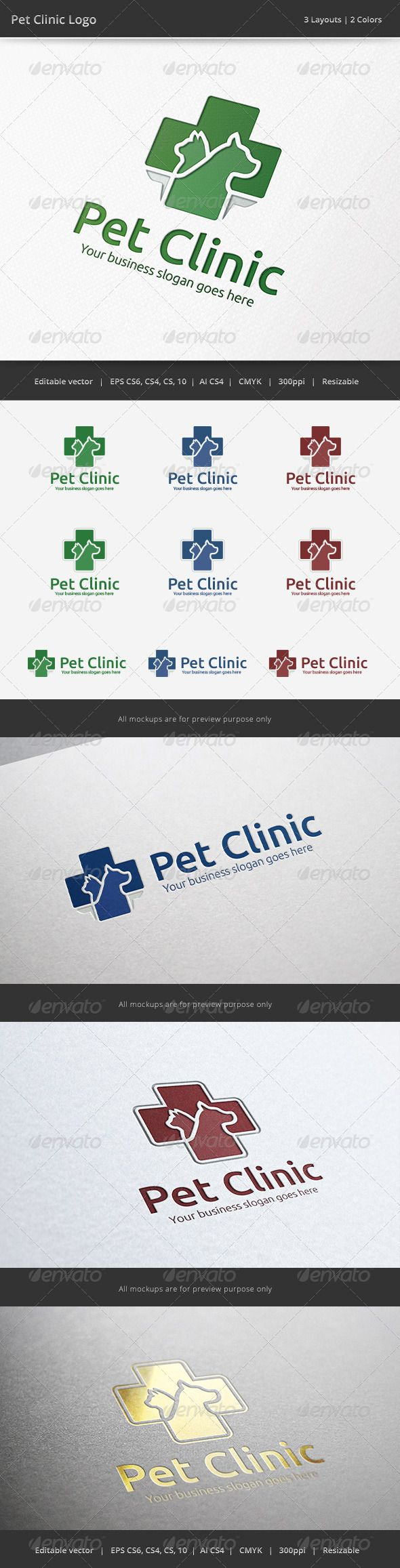 Pet Clinic Veterinary Logo — Vector EPS #hospital #vet • Available here → https://graphicriver.net/item/pet-clinic-veterinary-logo/6525831?ref=pxcr