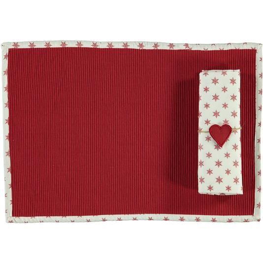 Tovaglietta con tovagliolo fiocco casa - € 9,90   Nico.it - #table #tablecloth #tovaglietta #setamericano #kitchen #cucina #cute #homesweethome #love #christmas #tbt #picoftheday