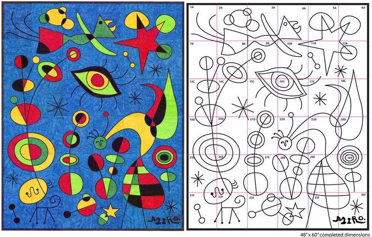 ✿ Otro representante del Surrealismo en España es Joan Miró  (1893-1983). Poseía un universo propio constituido por la línea, el punto...