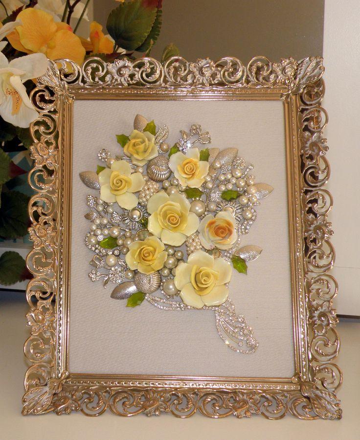 Rhinestone & Rose Bouquet - on sale at Etsy