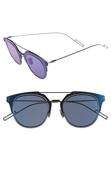 Christian Dior 'Composit 1.0S' 62mm Metal Shield Sunglasses available at #Nordstrom