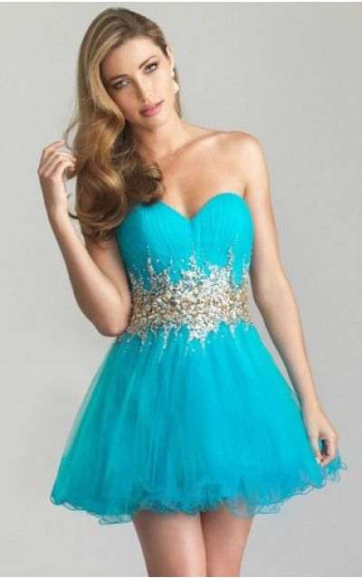Sweetheart Short Tulle Natural Lace-up Cocktail Dresses gt0526