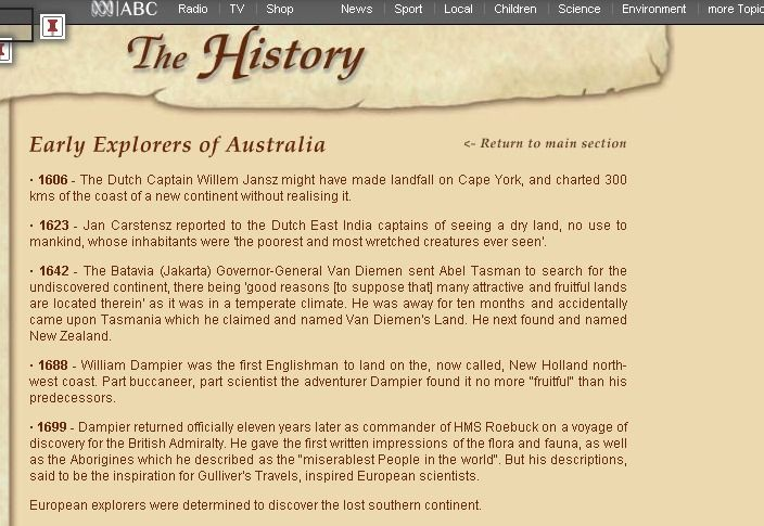 European explorers to Australia timeline | HIstory | Pinterest ...
