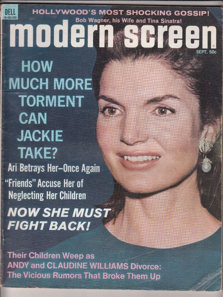 (This is a lot of 1967 - 1971 movie star and celebrity gossip magazines as follows: 1) Movie Stars September 1971 Jackie Kennedy on the cover. Covers have light wear, interior pages are VG. 2) Movie Life for August 1969.
