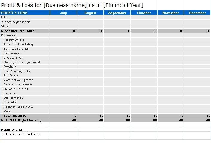 Profit And Loss Statement Templates 6 Free Printable Word