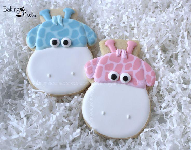 Baby Giraffe Cookies~                         Baby Shower by Bakinginheels, $48.00, pink, blue