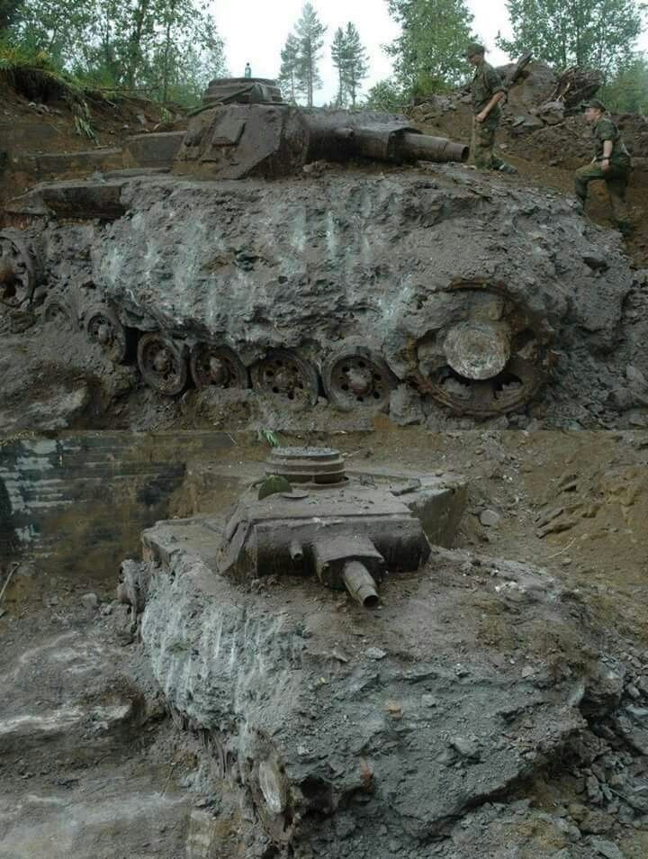 dug tanks on the eastern front
