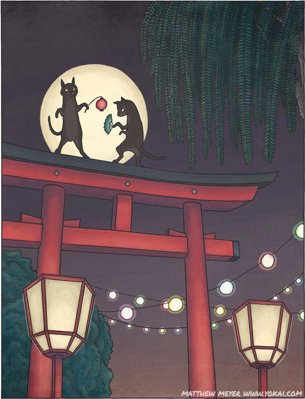 Bakeneko - Japanese mythological cat demon