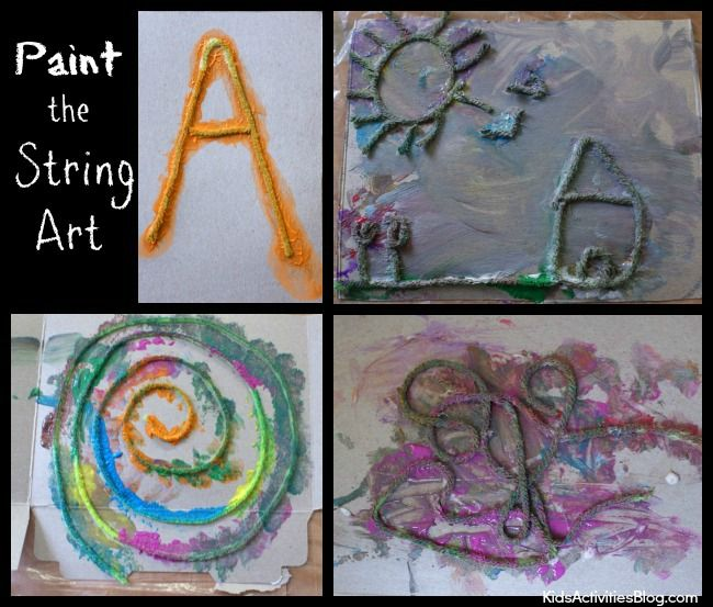 yarn painting preschool - photo #40