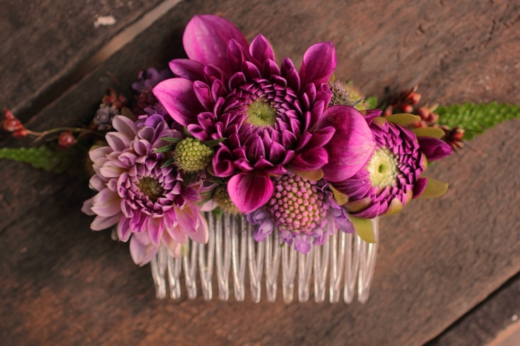 Dahlias and pin cushion flowers - early September