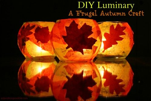 DIY Luminary ~ A Frugal Autumn Craft - Education Possible