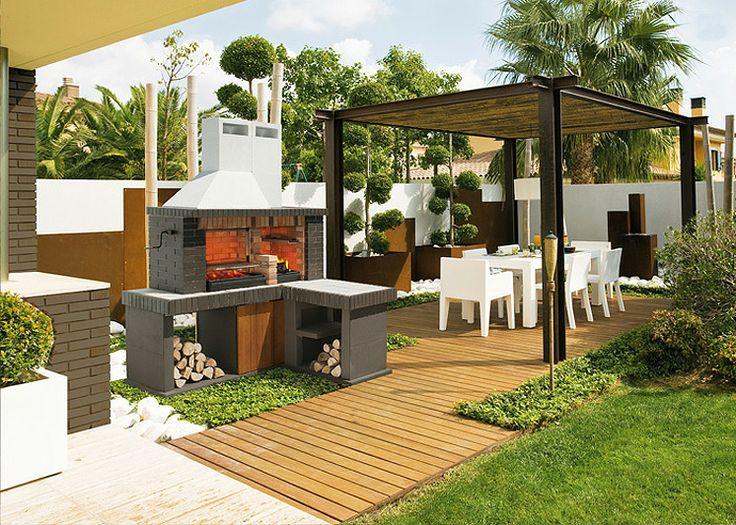 Barbacoa de jard n delta barbacoas jardin de le a para for Barbacoa patio interior