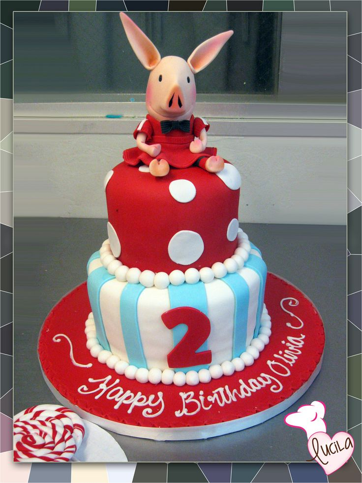 Cake with hand made fondant character on top.