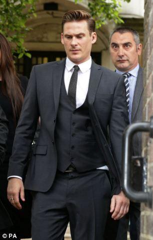 Lee Ryan leaving Ealing Magistrates Court, London...