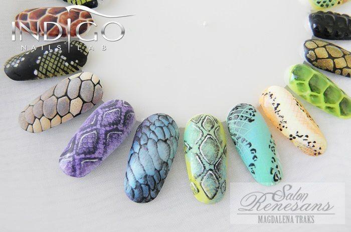 Jungle Nail according to Magdalena Traks Indigo Educator :) More jungle…