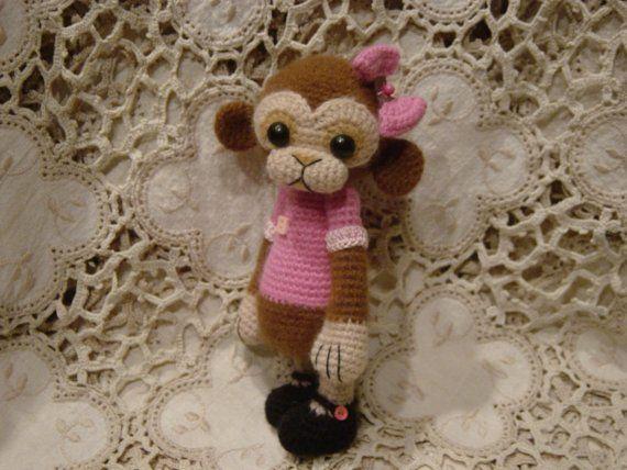 Cammy OOAK Artist ThReAd crochet Monkey doll by CrochetTeddyBears