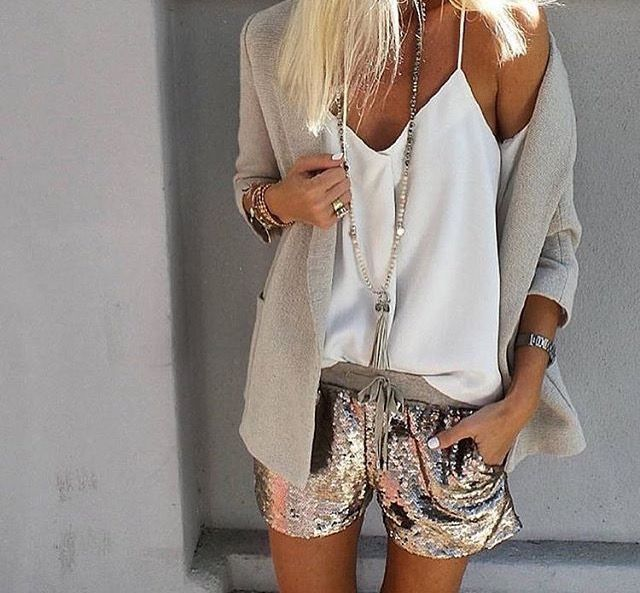 I think I need some glitter shorts like these!   Florida fashion    Pinterest   Fashion, Style and Outfits 6ebce3d65c