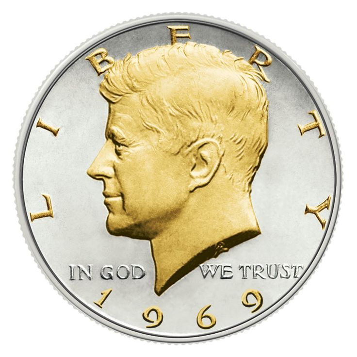 Gold and Silver Kennedy Half Dollars - The Danbury Mint