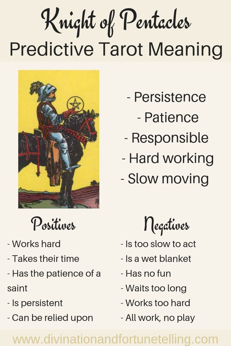 Knight of Pentacles: Predictive Tarot Card Meanings