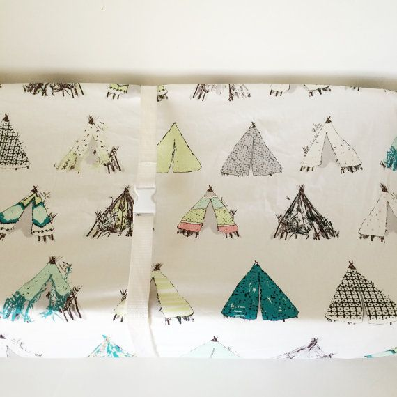 Southwestern Fitted Crib Sheet Teepee Baby Bedding / Mini