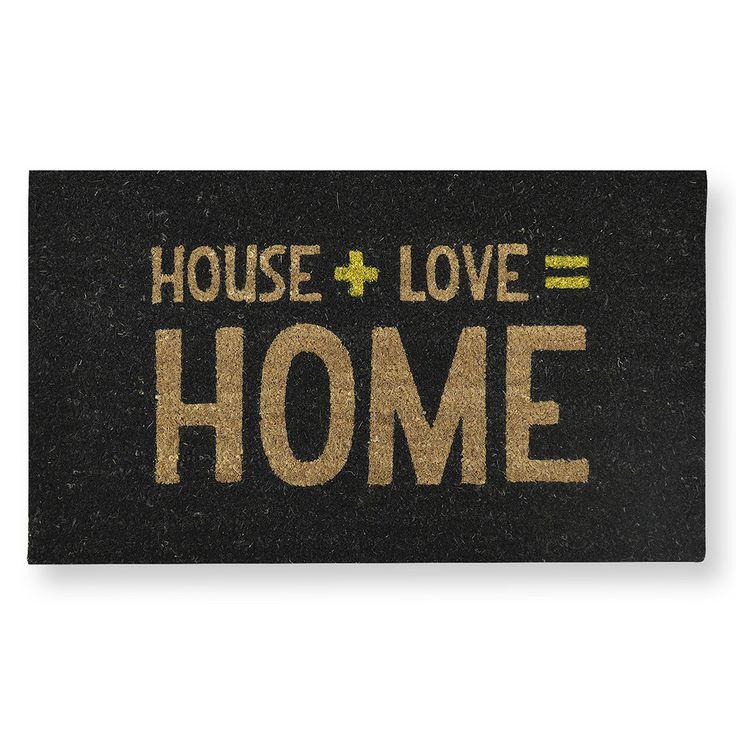Love = Home Coir Doormat