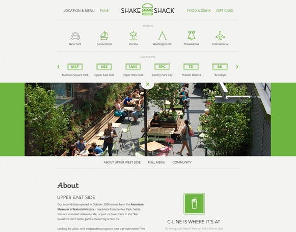 Well done website of Shake Shack, by Big Spaceship: Beautiful Website