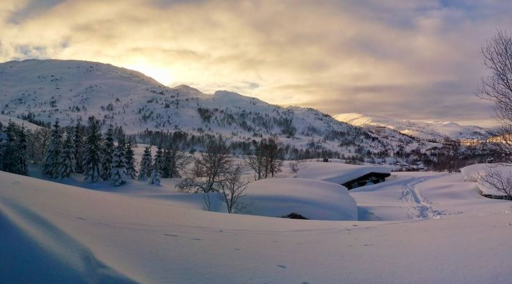 Winter snow in norway