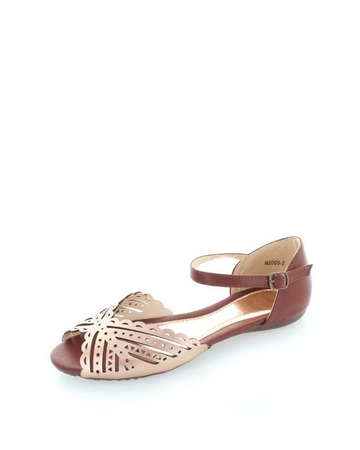 Ružovo-zlaté sandále Beatha