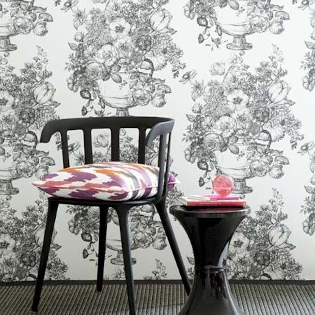 Floribunda Wallpaper by Clarke & Clarke.  Wallpapershop.com.au