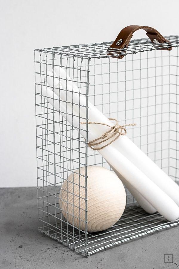 Drahtkorb-Schublade selber machen Basteln mit Hasendraht