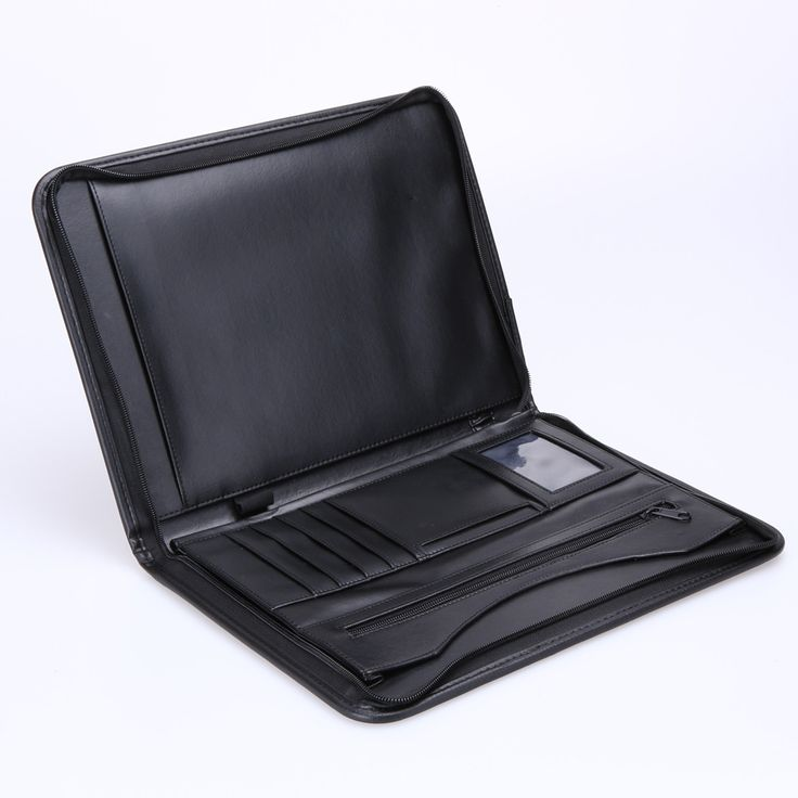 ASLT business zipper portfolio A4 documents folder