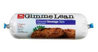 Ground (vegan) Sausage by Gimme Lean/ LightLife.