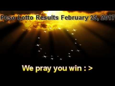 PCSO LOTTO RESULTS  FEBRUARY 25,  2017  Winning Numbers - http://LIFEWAYSVILLAGE.COM/lottery-lotto/pcso-lotto-results-february-25-2017-winning-numbers/