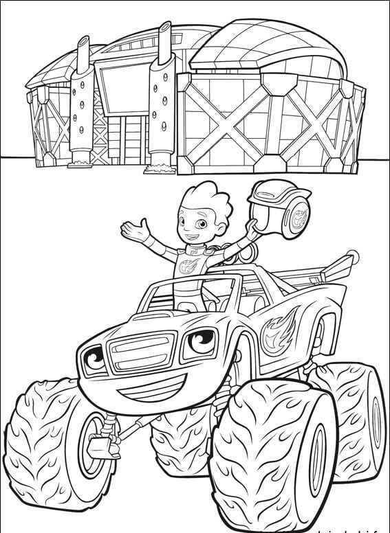 27+ Blaze and the monster machines coloring page free download