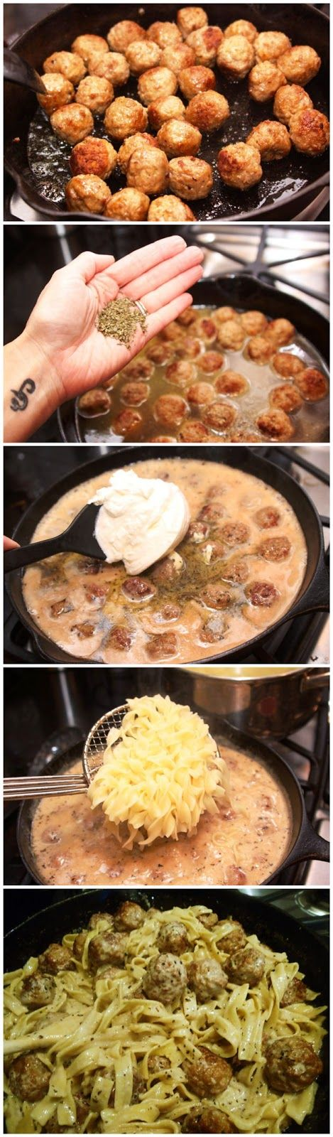 Meatballs Stroganoff..... making this again foe supper it was FANTASTIC!!