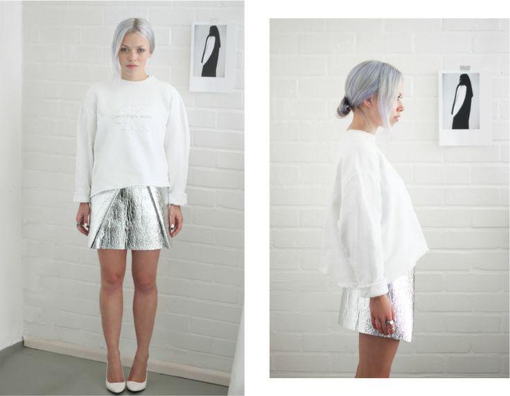 diy foil skirt, good for robot/space day